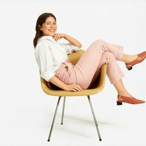 Everlane The Corduroy Straight Leg Crop Dusty Rose